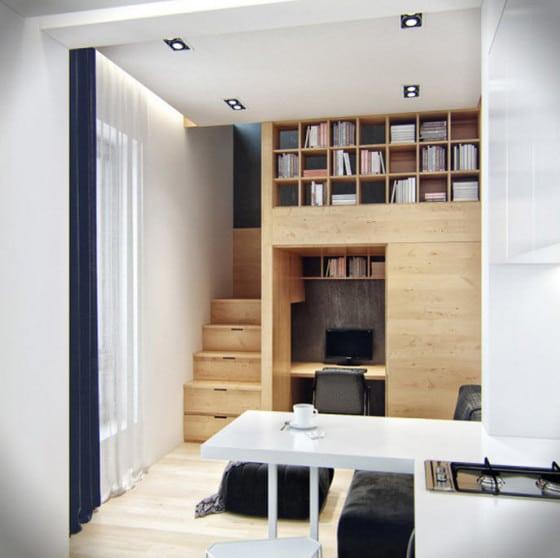 Diseño de estante para departamento pequeño