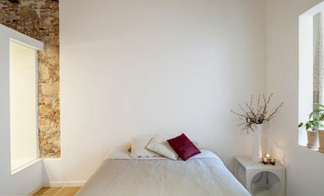 Diseño de dormitorio de apartamento minimalista