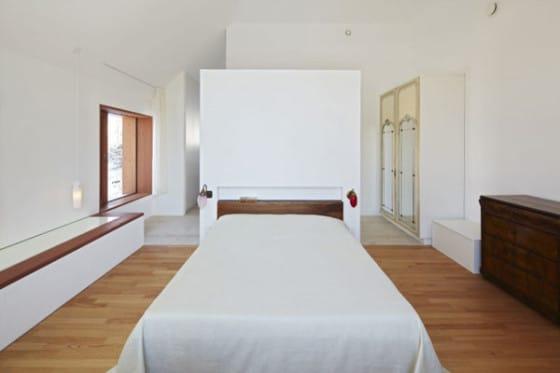 Diseño de dormitorio de casa de madera