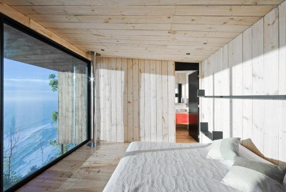 Diseño de dormitorio principal de madera