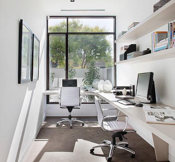 Diseño de escritorio en forma de L