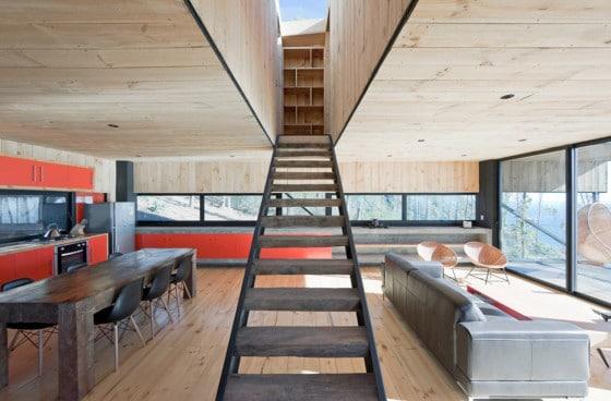 Diseño de sala comedor rústico