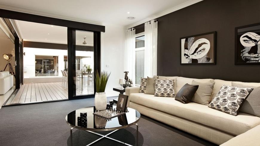 Dise o de casa de una planta con planos y fachadas for Ideas de decoracion para salas modernas