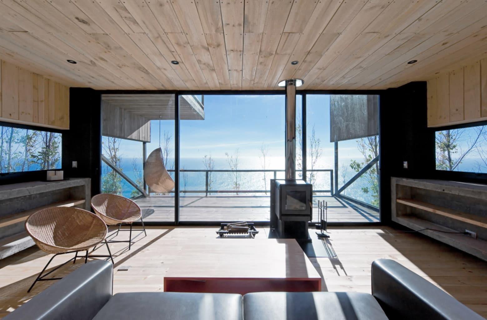 Dise o de casa moderna de dos pisos con planos for Diseno de casas angostas