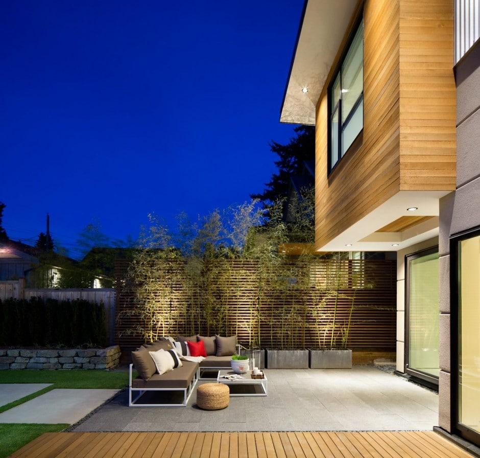 Fachada de casa moderna de dos pisos y dise o de for Pisos de terrazas