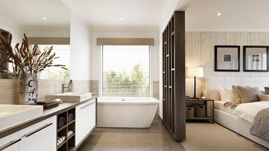 Dise o de casa de una planta con planos y fachadas Diseno de interiores recamara principal