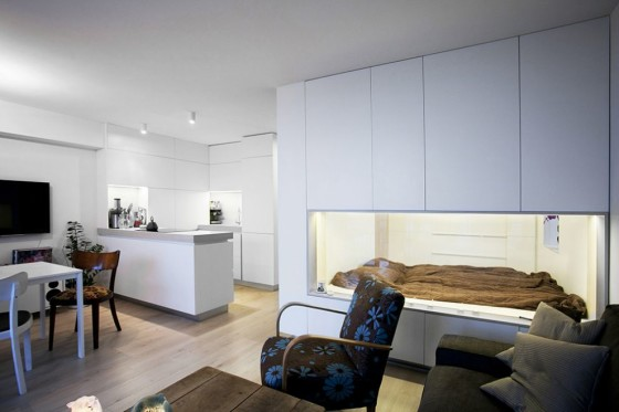 Dormitorio en pequeño departamento