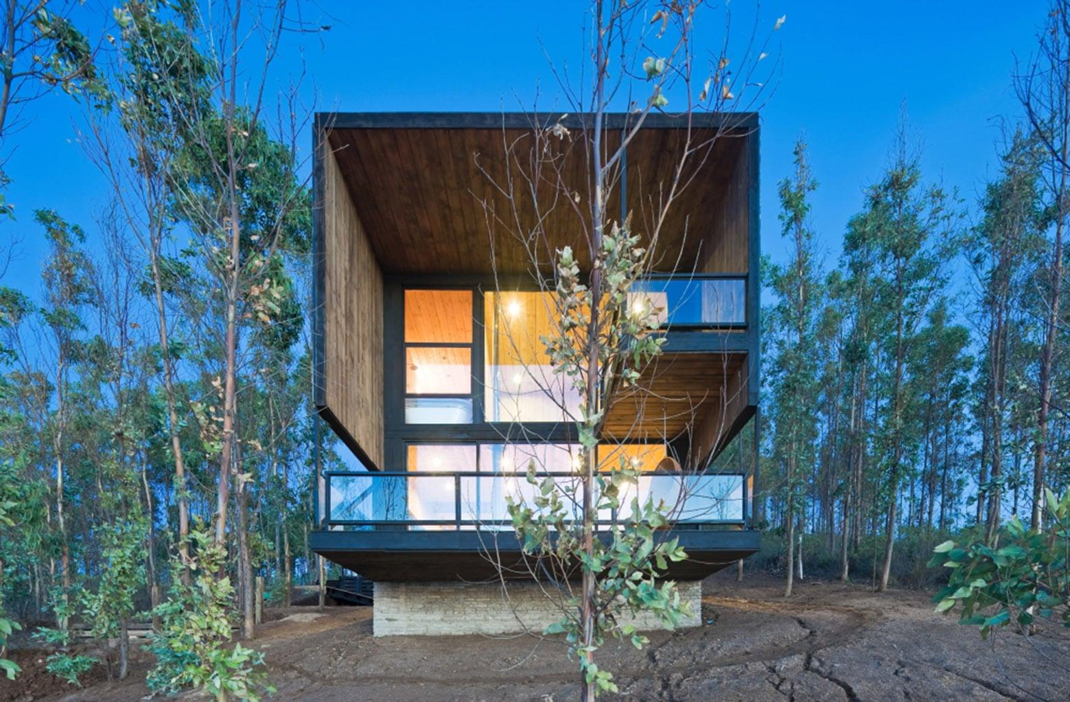 Dise o de casa moderna de dos pisos con planos construye for Casa moderna numero 2