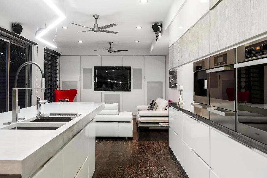 Detalles de dise o de una moderna cocina - Disenos de cocinas modernas con isla ...
