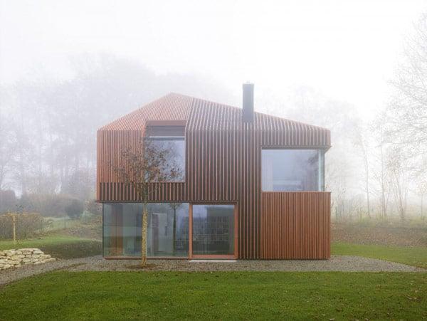 Modelo de casa de madera fachada y planos construye hogar - Casas de madera modelos ...