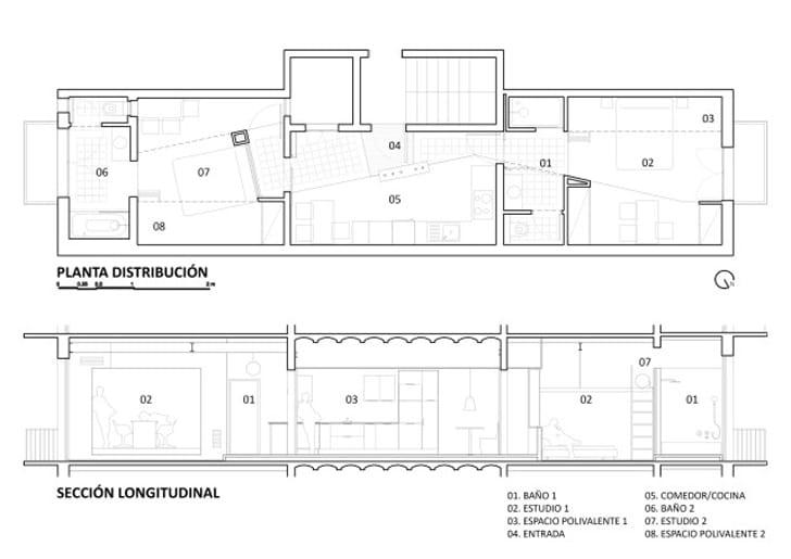 Planos de departamento 2 dormitorios construye hogar Planos de dos dormitorios