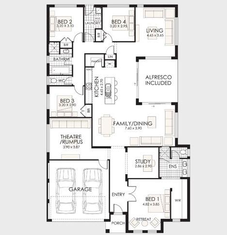 10 dise os de casas de una planta construye hogar for Planos de interiores de casas