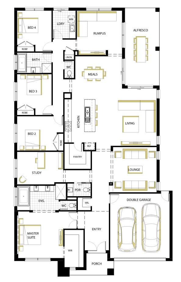 10 planos de casas de una planta for Planos de casas de 2 plantas