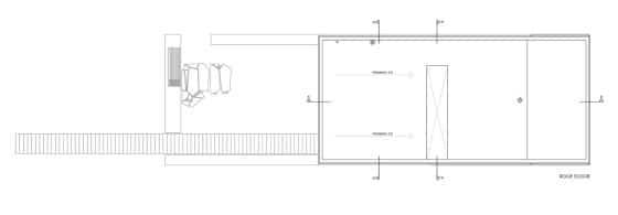 Plano de techo de casa de dos plantas moderna