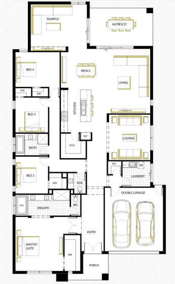 Planos de casa de un piso