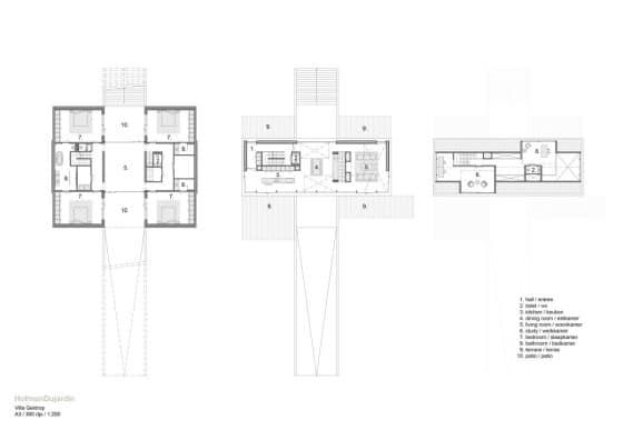 Planos de planta de casa de un piso