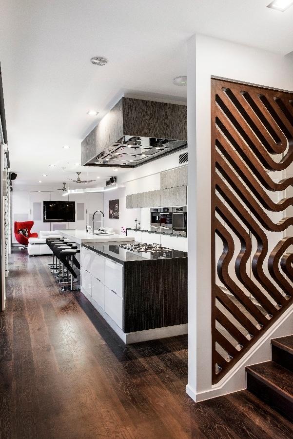 Detalles de dise o de una moderna cocina Disenos modernos con elementos de madera