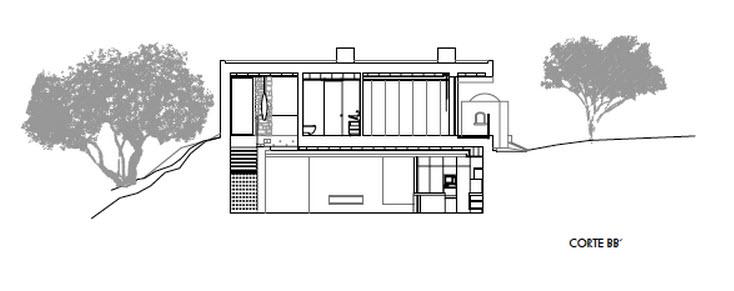 Moderna casa de dos plantas con piscina en azotea for Casa de dos plantas construyehogar