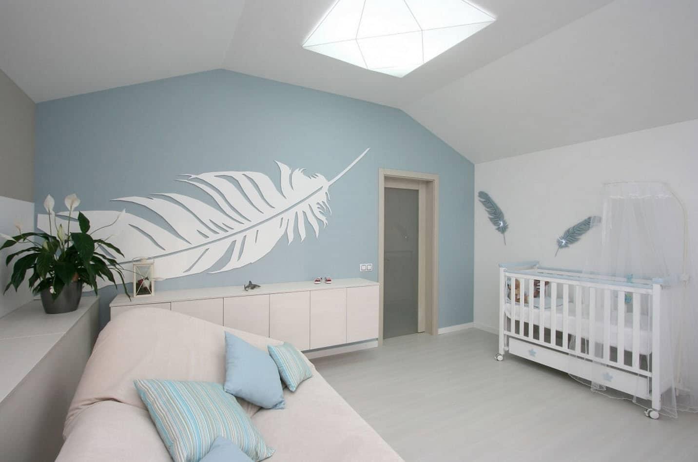 Dise o casa moderna dos plantas y planos construye hogar - Decoracion pared dormitorio ...