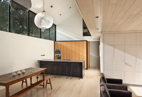 Diseño de Cocina comedor de casa de campo moderna