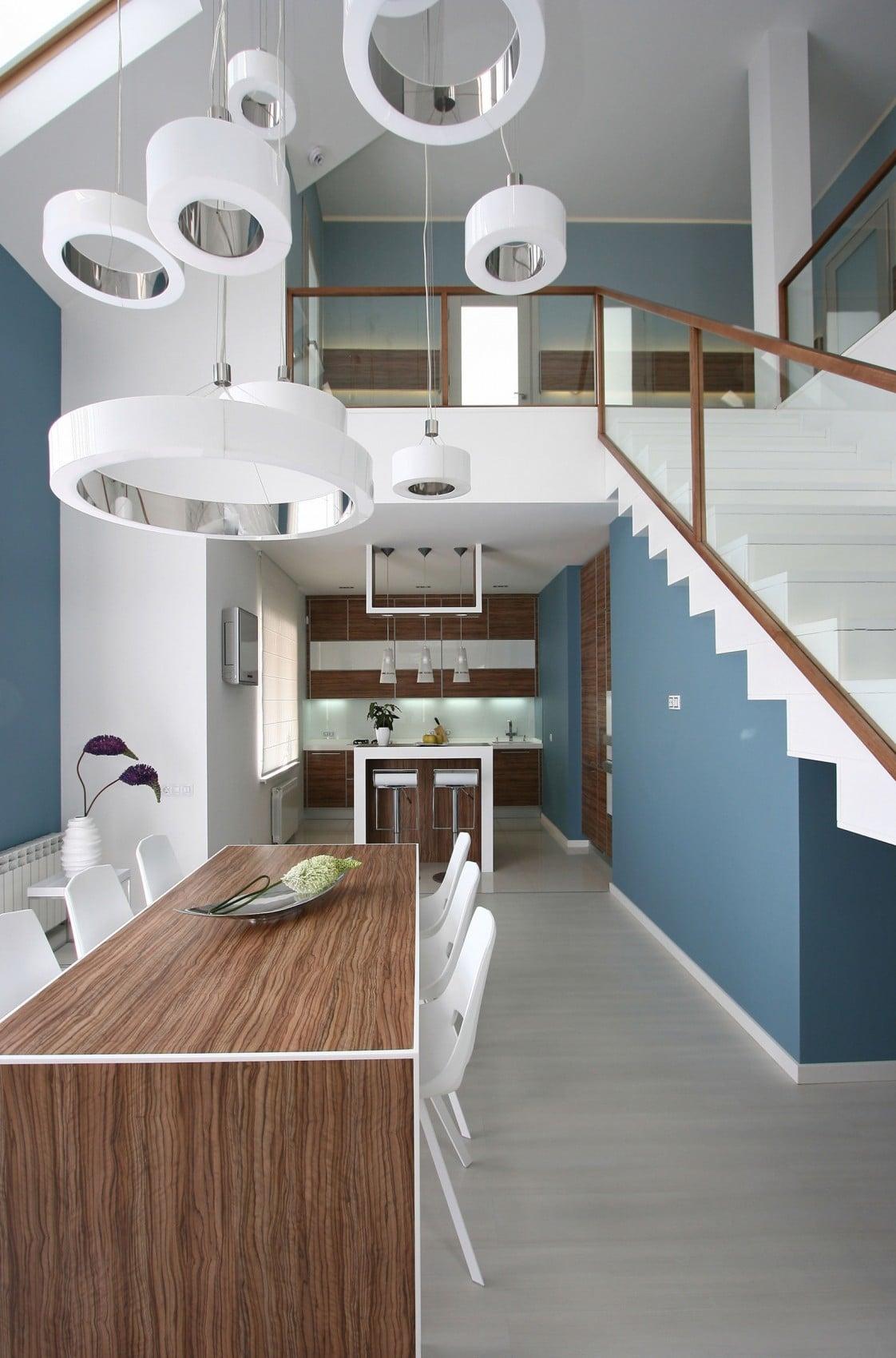 Dise o casa moderna dos plantas y planos construye hogar for Casa minimalista interior cocina