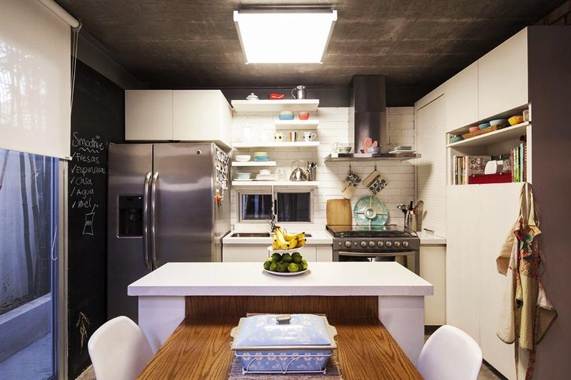 Planos de casa en forma de l dise o construye hogar for Diseno isla cocina