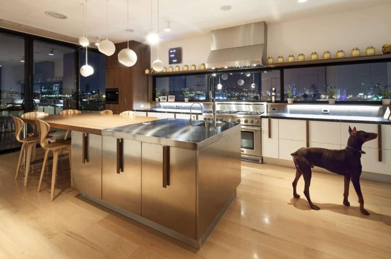 Dise o de departamento de dos pisos de lujo for Disenos de cocinas para apartamentos