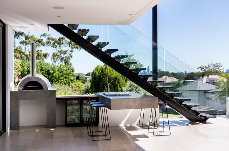 Dise os de modernas cocinas con islas for Cocinas debajo de las escaleras