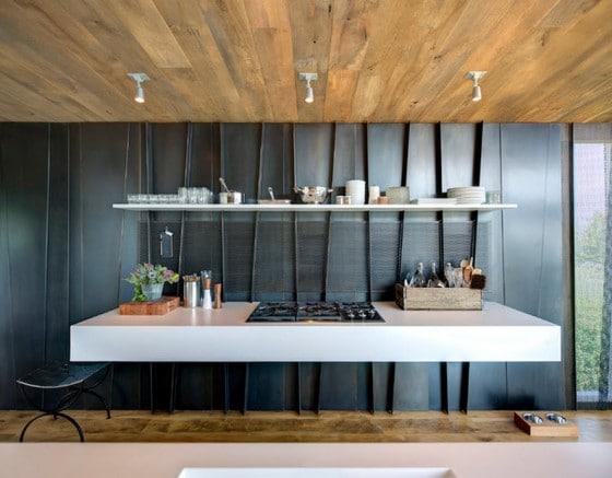 Diseño de cocina flotante