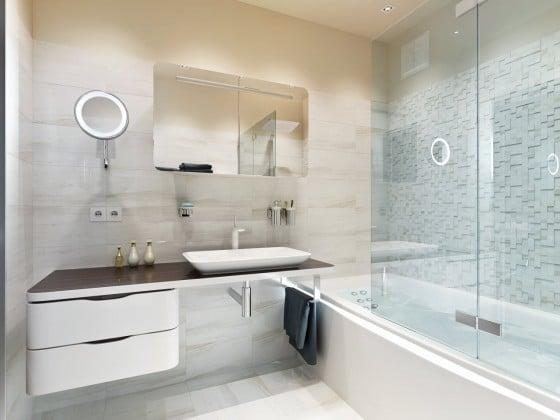 Diseño de cuarto de baño elegante