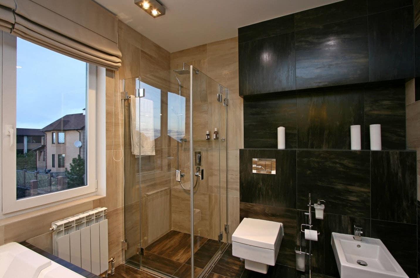 Dise o casa moderna dos plantas y planos for Diseno de habitacion con bano y cocina