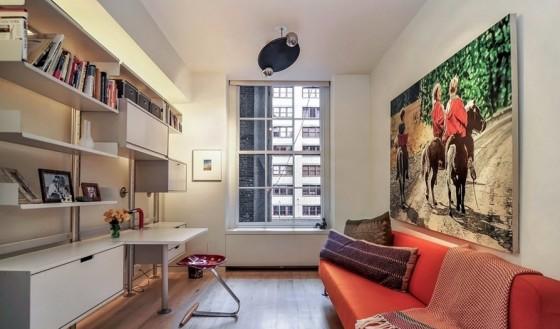 Diseño de cuarto de estudio de apartamento