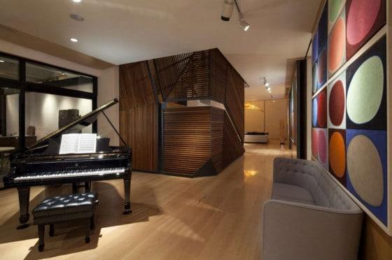 Diseño de cuarto de parra piano