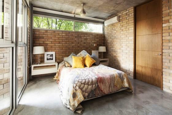 Diseño de dormitorios con ladrillo caravista