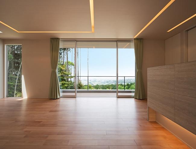 Dise o de moderna casa de un piso planos construye hogar for Ventana en el techo