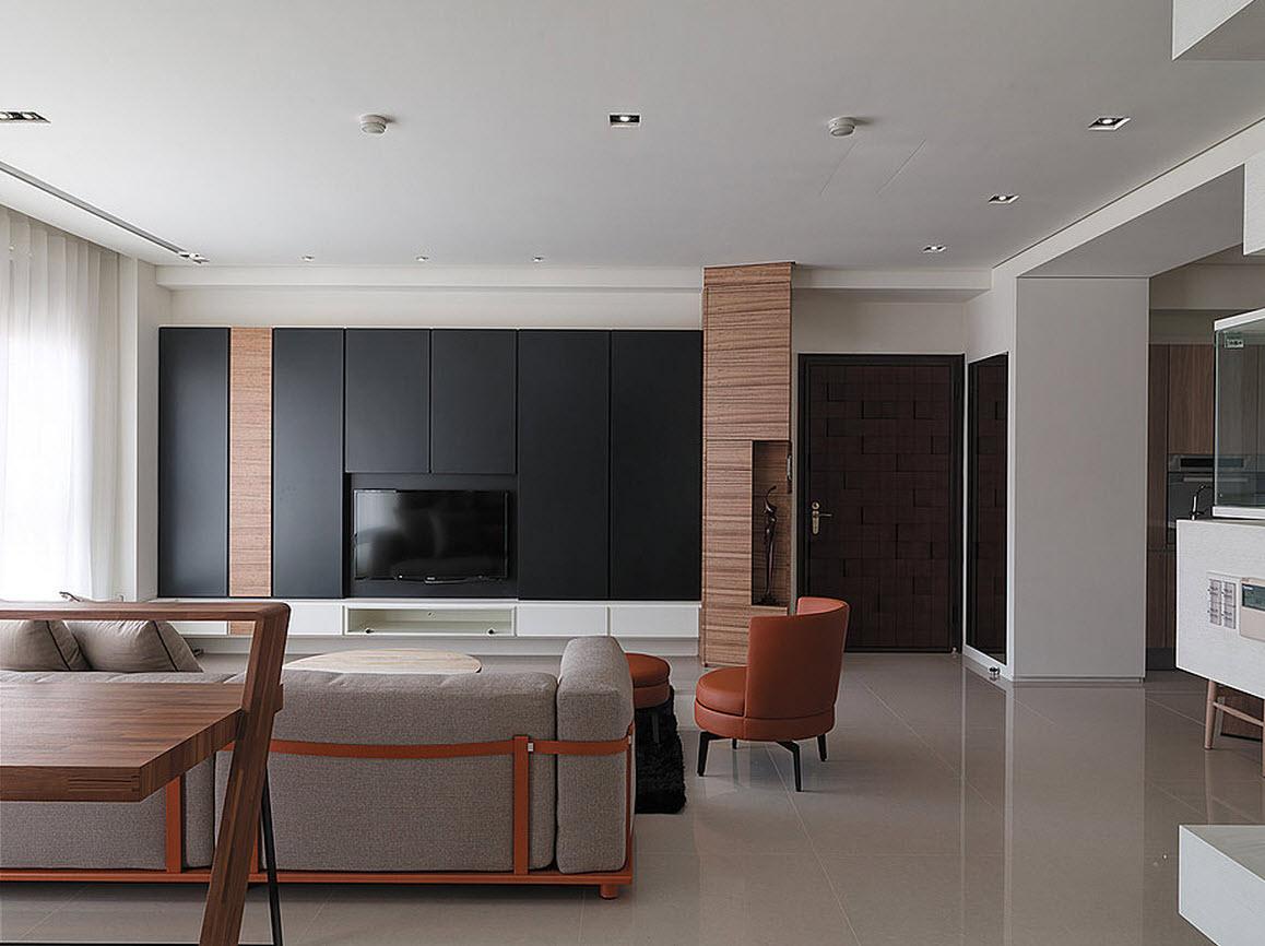 Plano y dise o de casa peque a interiores for Diseno de interiores sala de estar