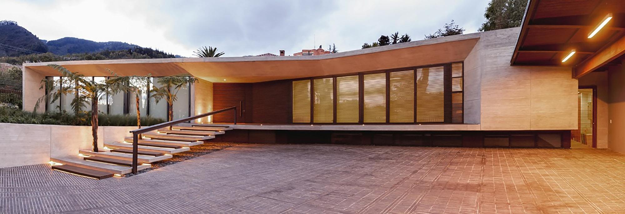 Moderno dise o casa de un piso con planos construye hogar for Arquitectura de casas modernas de una planta