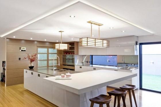 Moderno diseño de cocina con isla