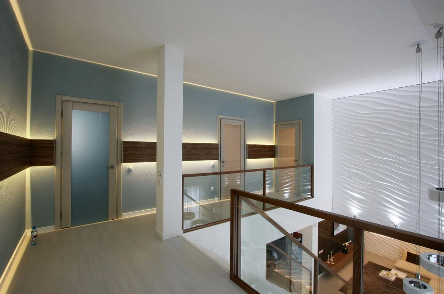 Dise o casa moderna dos plantas y planos construye hogar for Sala de estar segundo piso