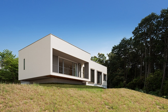 Dise o de moderna casa de un piso planos for Fotos de casas modernas simples