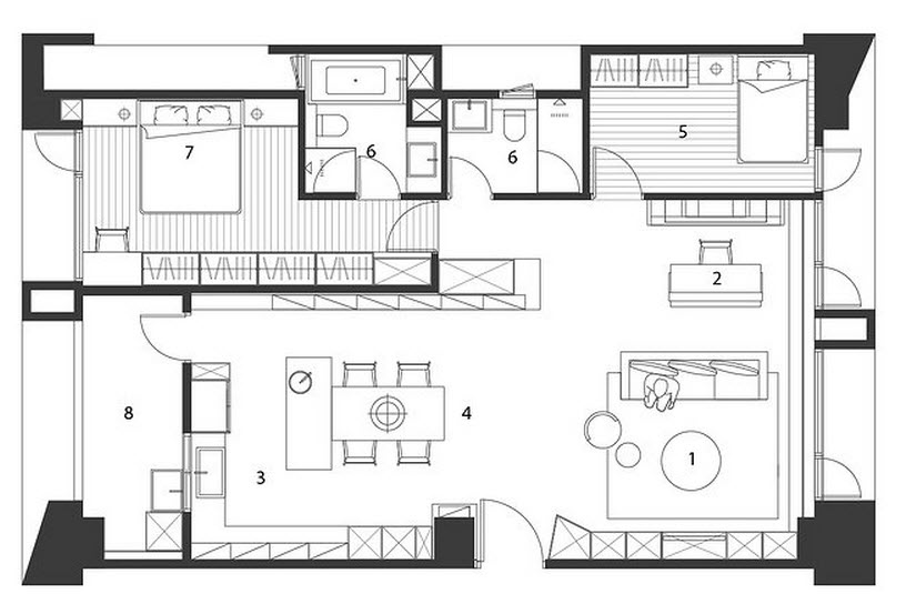 Plano y dise o de casa peque a interiores Planos interiores de casas modernas