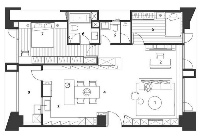Plano y dise o de casa peque a interiores construye hogar for Diseno de oficinas pequenas planos