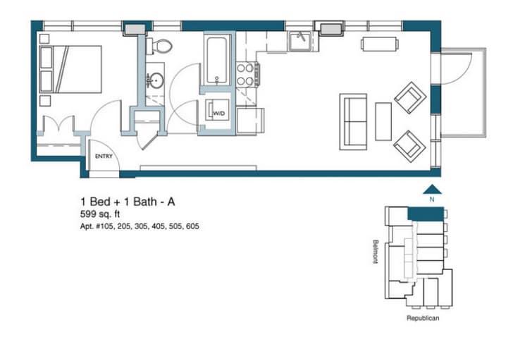 Dise o de planos departamentos peque os for Planos apartamentos pequenos