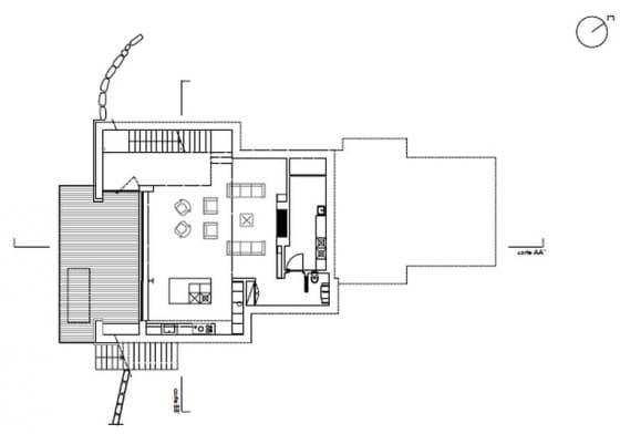 Plano del primer piso de la vivienda