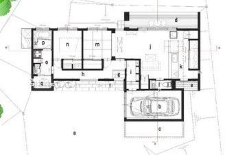 Planos de casa de una planta construida en terreno pequeño