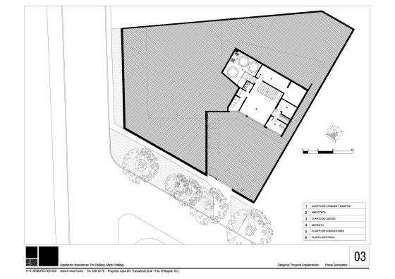 Planos de semi sótano de casa de un piso en terreno grande