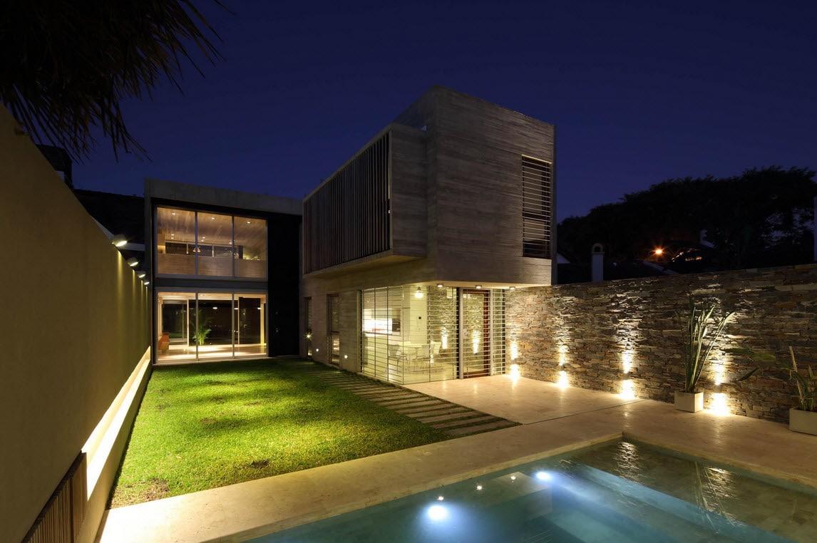 Planos de casa de dos pisos fachada segura - Casa con piscina ...
