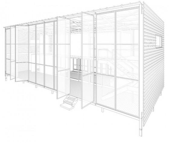 Construcción de casa de campo gráfico