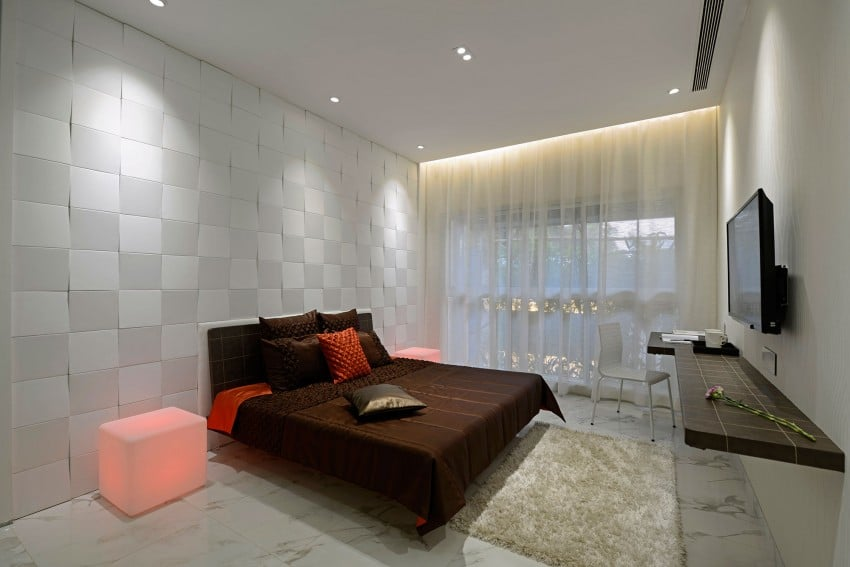 Plano y dise o de interiores departamento construye hogar for Diseno de dormitorios modernos