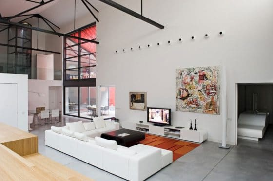 Decoración de interiores de sala estilo juvenil